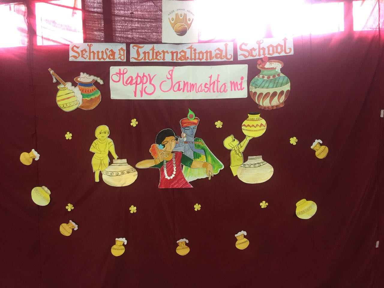 Celebration of Krishna Janmashtami by our Boarding Students