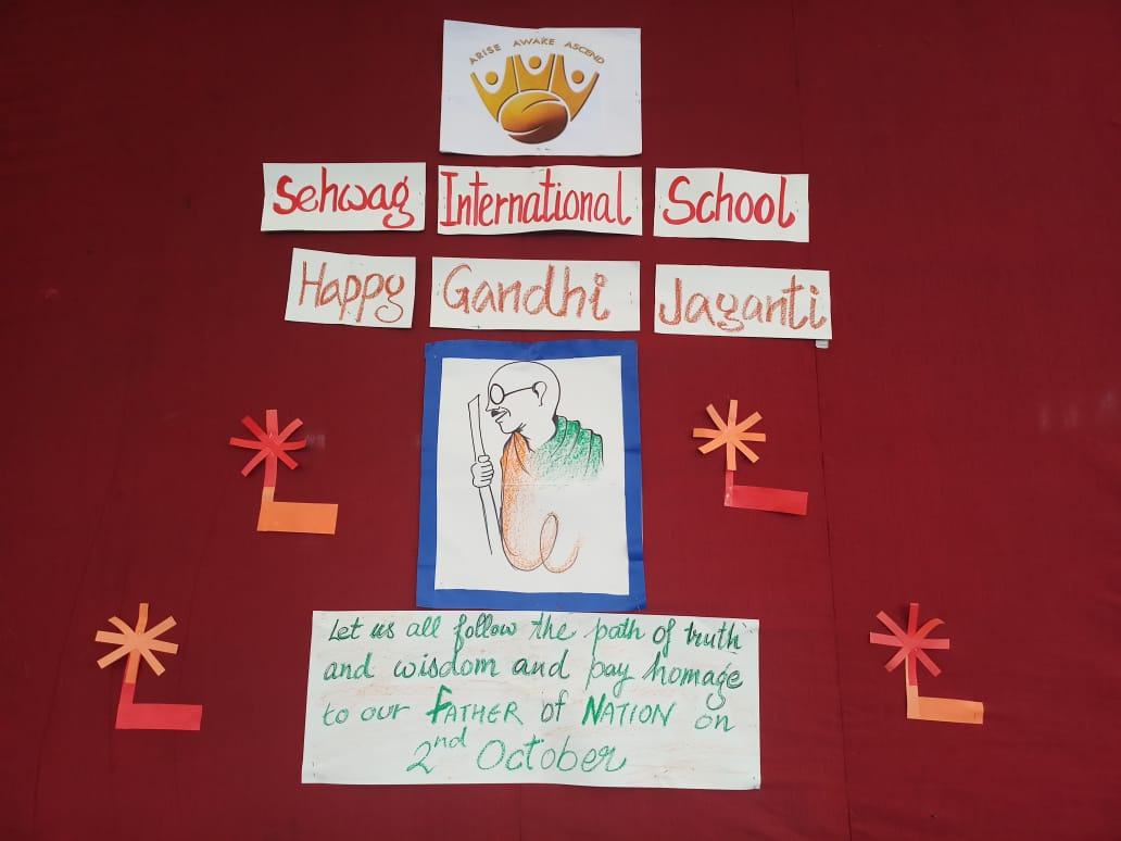 Sehwag International School Students on Gandhi Jayanti sharing thoughts and its importance.