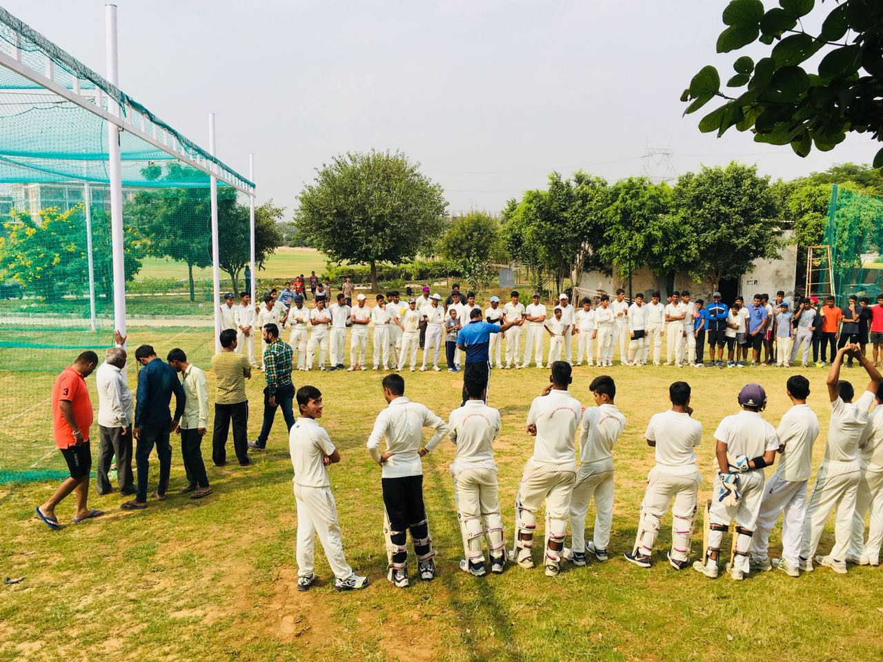 Inauguration of New Cricket Practice Wickets