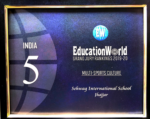 Education World Award in Multi-Cultural Sports & Day Cum Residential school