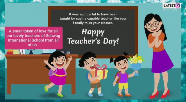 """Students created some beautiful cards for our teachers on """"TEACHERS DAY"""""""